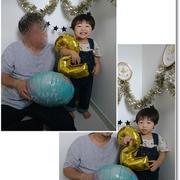 2歳の誕生日写真とアレルギーが心配だった蕎麦茶アイス