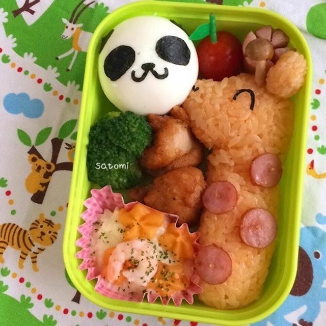 2015/06/11 幼稚園弁当☆ 動物園に遠足!キャラ弁