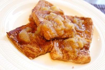 シナモン香る、アップル豆乳ミルクティー・フレンチトーストでとろける週末を……