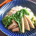 山菜ピラフ、ホタテのソテーとホワイトソース添え。和食だけじゃない、おいしい山菜のレシピ。