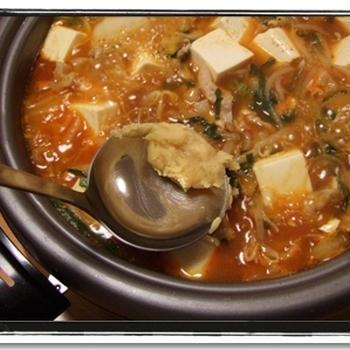 激旨★白味噌キムチ鍋レシピ