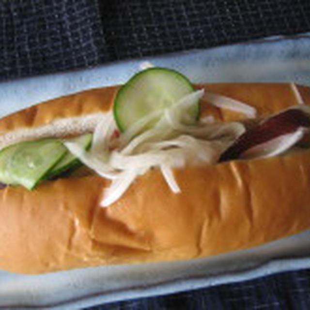 たこのマリネのサンドイッチ