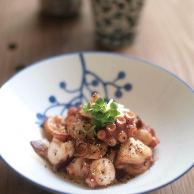蛸のオイマヨ炒め。