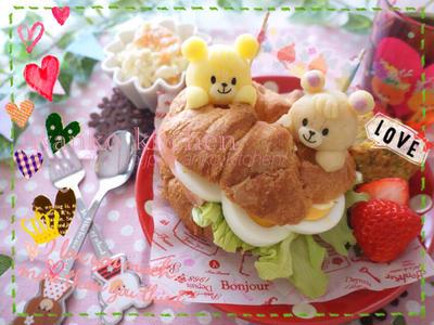 パクペロチャン達が食べちゃうよ~!サンドイッチプレート♡