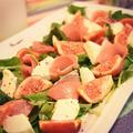 いちぢく生ハムモッツァレラサラダとどさどさやって来るイチジクの冷凍保存