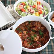 世界一軽い鋳物ホーロー鍋 ✿ チキンのチリトマト煮込み♪