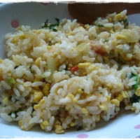 +茨城産レタスとみず菜でおいしいパラパラチャーハン+