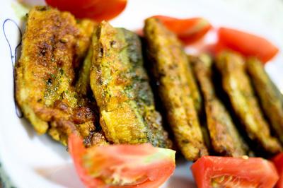 秋刀魚のクミン焼き。