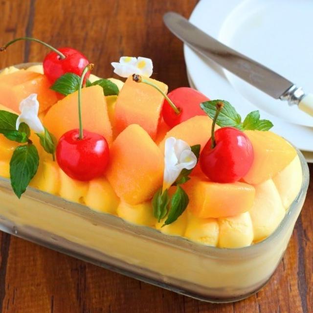 【レシピ】マンゴーアイスで!簡単★夏のスコップケーキ