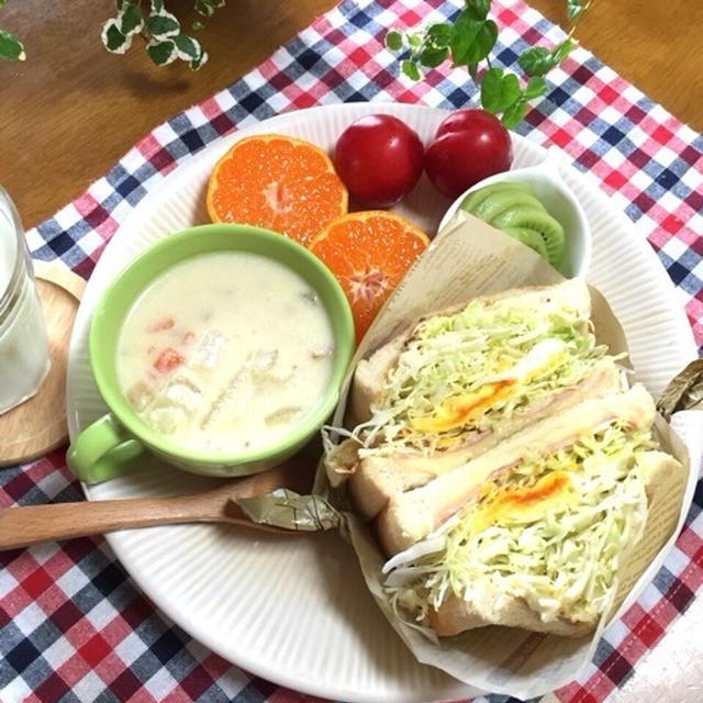 話題の沼サンド♡手軽な組み合わせdeバランス食な朝ごはん♪…デート♡