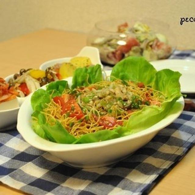 ☆サラダ2品がメインの美味しい28日夜ご飯☆