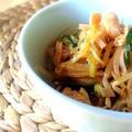小笠原島ラー油で作る!もやしときゅうりの鶏ナムル