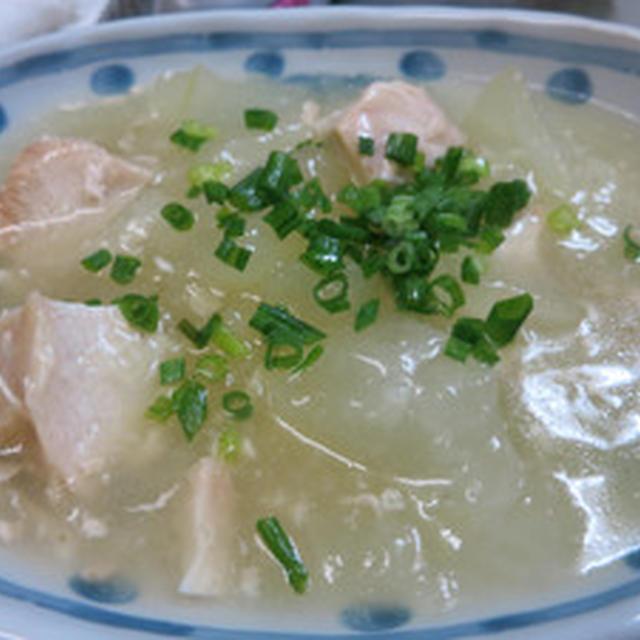 鶏胸肉ととうがんの煮物