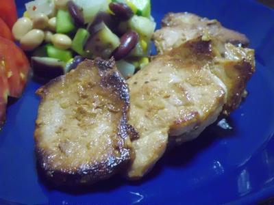豚モモ肉のタレ漬け焼きのワンプレート