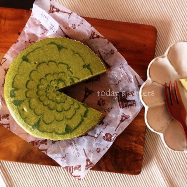 簡単♡しっとりお抹茶チーズケーキ♡