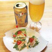 週末のごほうびビールとカマンベールのピンチョス