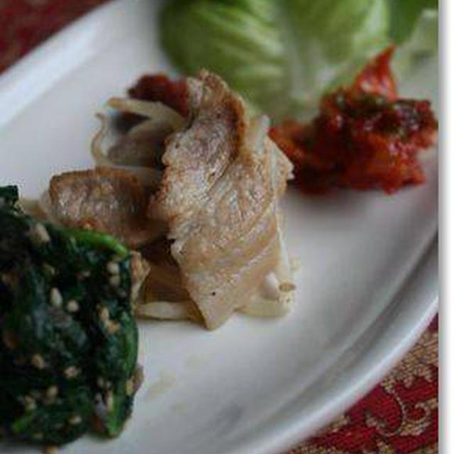 豚バラ肉ともやしの炒めもの&大根とホタテのサラダ