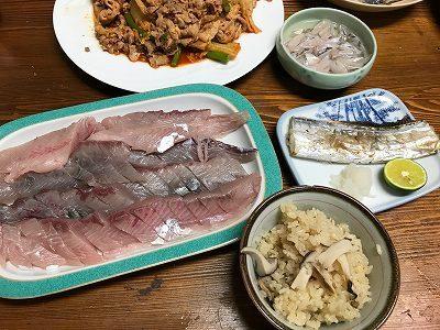 二女の魚釣りと魚ぎょぎょの晩ご飯2