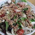 ベーコンアンチョビのマッシュルームサラダ