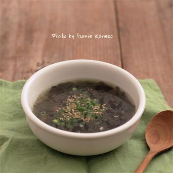 海苔とツナのスープ