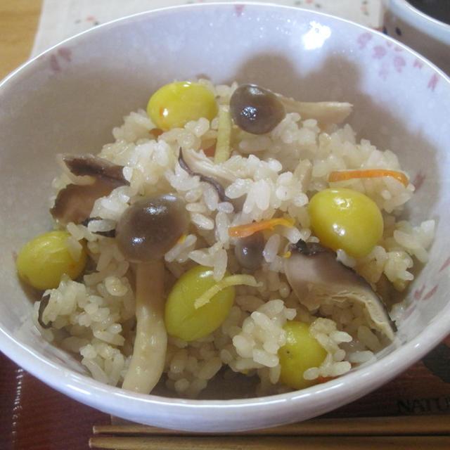 しめじと銀杏の炊き込みご飯☆