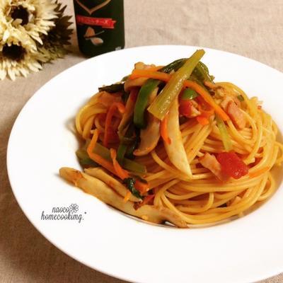 エリンギ&野菜の旨みたっぷり♪いろいろ野菜のパスタ ※追記あり