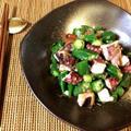 お通し大盛り。柔らかタコおくらの梅ポン柚子胡椒(糖質5.6g) by ねこやましゅんさん