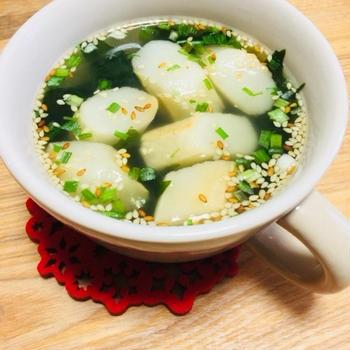 わかめスープにちょいたしレシピ…その1*お麩*
