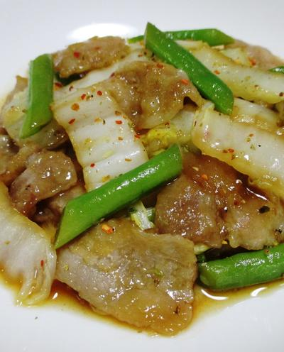 豚バラと白菜の七味ポン酢炒め<ご飯にぴったり>