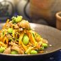 鶏皮と枝豆のピリ辛ポン酢和え     作り方とレシピ