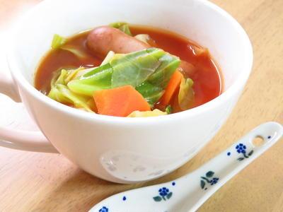 レンジも活用☆野菜ジュースで簡単ポトフ