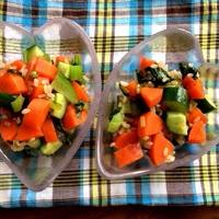 人参と小松菜のグレインズサラダ