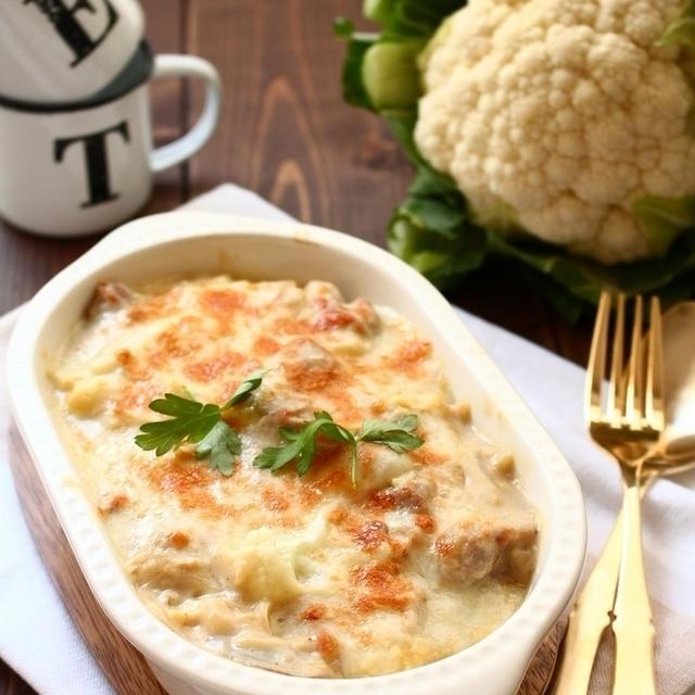 チキンとカリフラワーの白味噌豆乳グラタン ~ Nadia旬のレシピに掲載されました。