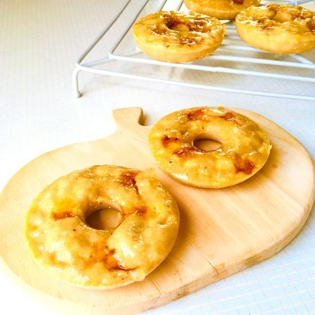 シナモンとカルダモン香る♪りんごのキャラメル焼きドーナツ♡スパイスアンバサダー♪