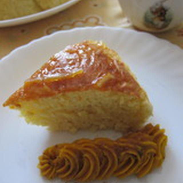 「オレンジチーズ蒸しパン」