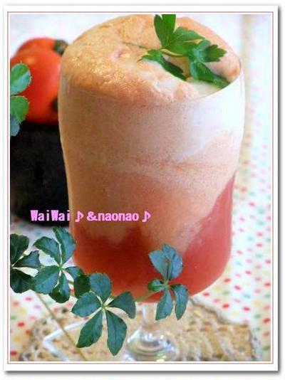 美味しさ新発見~★トマトのクリームソーダ♪♪・・・イライラの夜