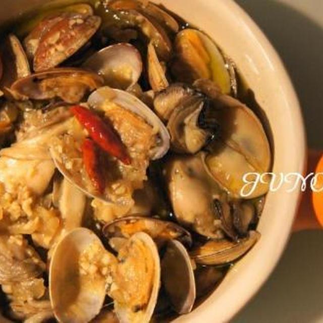 ☆牡蠣とアサリのオイル煮☆