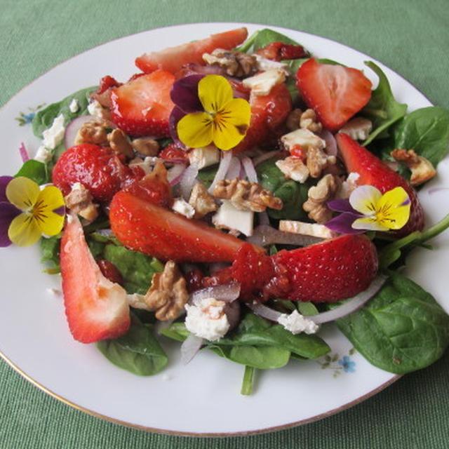 スピナッチと苺のサラダ  4・24・2012