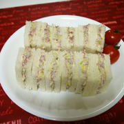 「よろこばレシピ」にレシピ投稿しました★カフェ風♡コンビーフののサンドイッチ♪