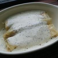 【乾物でイタリアン】ゆば巻きのクリームソース