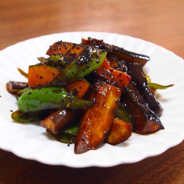野菜の甘みそ炒め