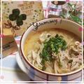 豚肉とモヤシの胡麻味噌スープ