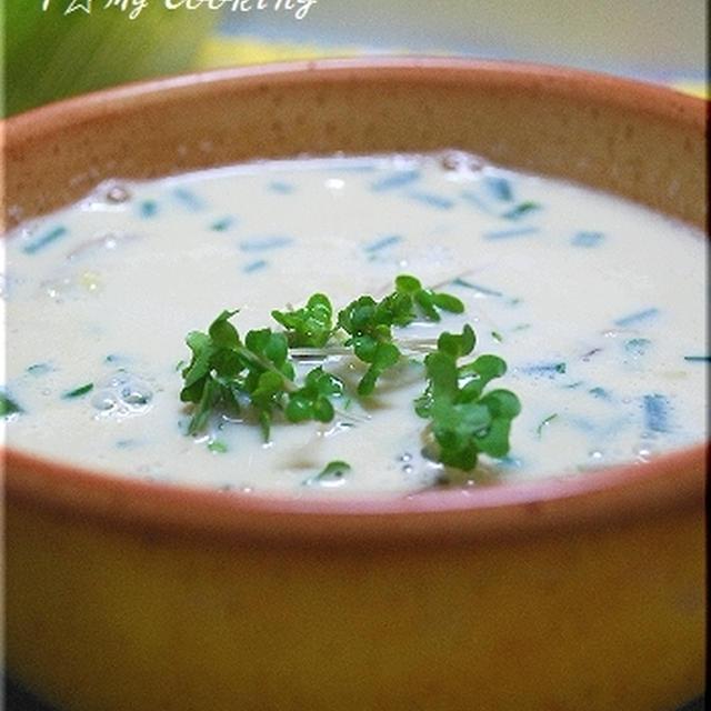 牡蠣の生姜豆乳スープ
