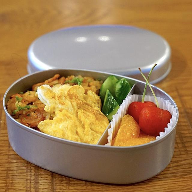 2019/7/12 おべんとうメモ。炒り卵オムライス弁当