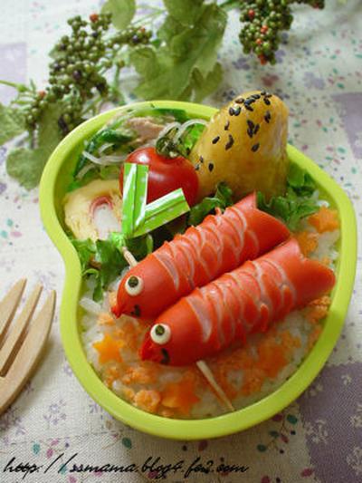 鯉のぼりのお弁当