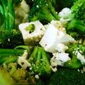 韓国料理ランチ ~ 豆腐のマリネとフェタチーズ、ブロッコリーのサラダ
