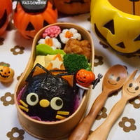 ハロウィン★黒ネコちゃんおにぎりの弁当がクックパッド プレスリリースで【掲載】