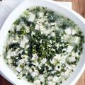 雞蓉豆腐薺菜羹│鶏ミンチと豆腐とナズナのスープ