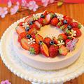 苺のまろやかレアチーズケーキ☆