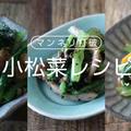 簡単に出来る小松菜のレシピ6選!お弁当の副菜や作りおきで大活躍